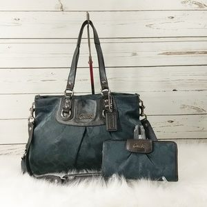 ad190c0937f6 ... czech coach ashley satchel coach ashley carryall satchel and matching  wallet 1f63d 1e7af